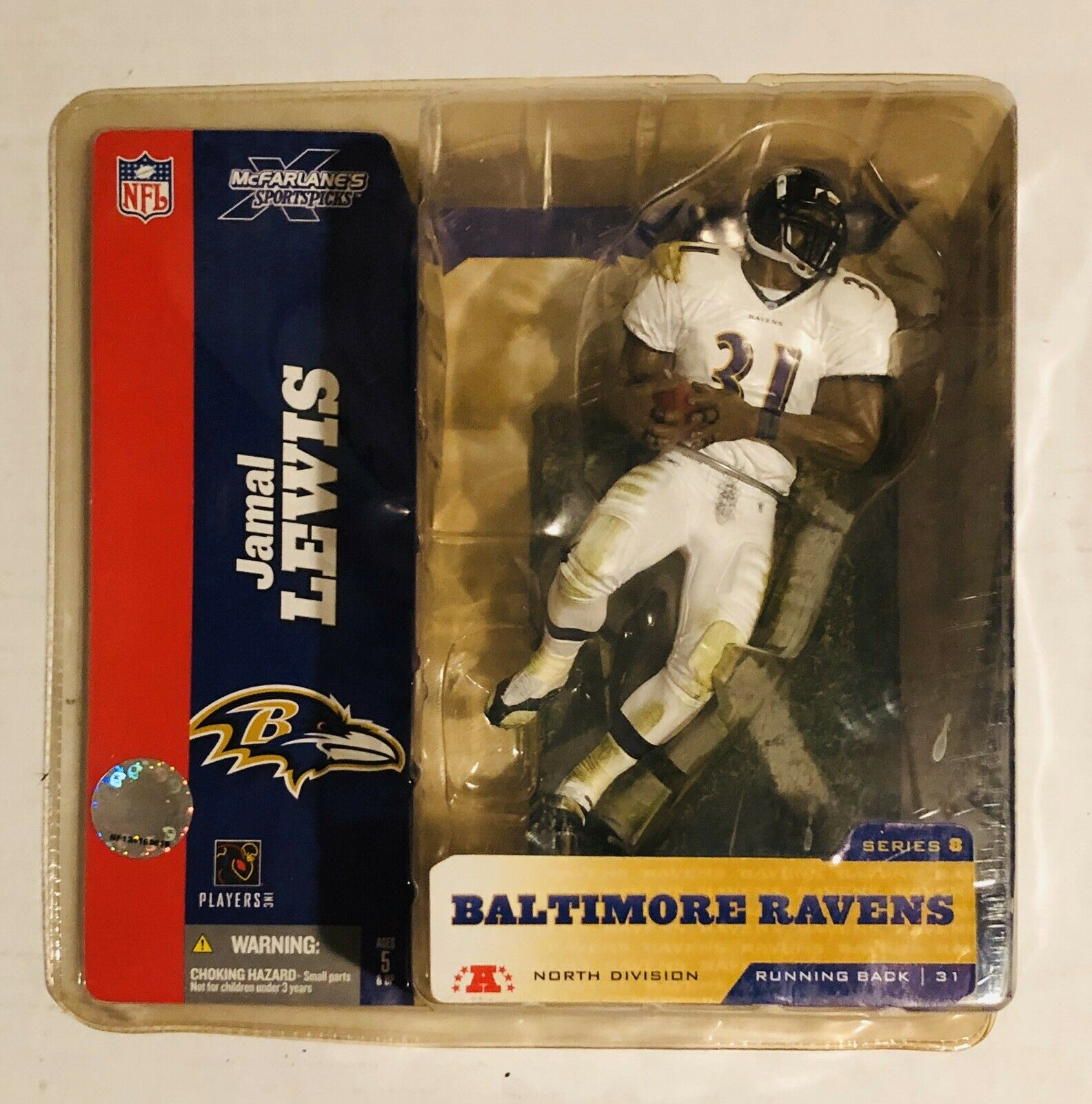 NFL Jamal Lewis Baltimore Ravens McFarlane/'s Sportspicks Figure 2004 Series 8
