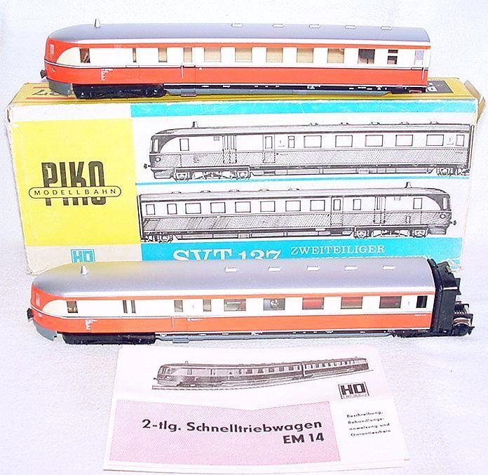 Piko HO 1 87 DEUTSCHE REICHSBAHN SVT 137 MULTIPLE UNIT DMU Train Set MIB`79 RARE