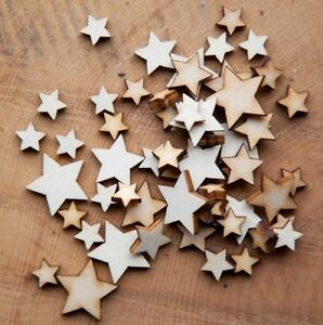 Wooden-MINI-MIXED-STARS-Cardmaking-Scrapbooking-Craft-Shape-Blank-Embellishment