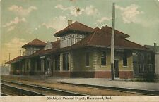 Indiana, IN, Hammond, Michigan Central Depot 1908 Postcard