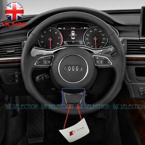 s line metal badge for audi steering wheel a1 a3 a4 a5 a6 a7 q3 q5 ebay. Black Bedroom Furniture Sets. Home Design Ideas