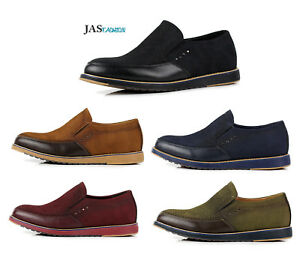 Mens-Comfort-Slip-On-Lightweight-Casual-Shoes-Smart-Fashion-Flat-Walking-Loafers