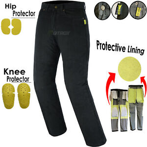 Men-039-s-Motorbike-Motorcycle-jeans-denim-with-Protective-Lining-Trouser-Pant