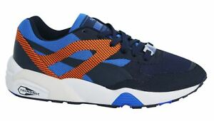 Puma R698 Progressive Lace Up Navy Orange Mens Trainers 362046 03 M15