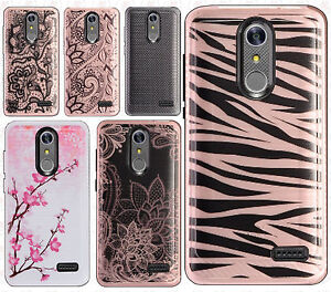 huge selection of 3e126 cd234 Details about For Cricket ZTE Grand X4 Hard IMPACT HYBRID Protector Case  Skin Phone Cover