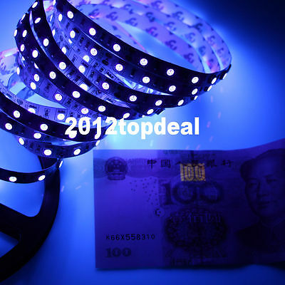 DC12V 3528 5050 UV Ultraviolet purple waterproof 60led//m Strip lamp black light