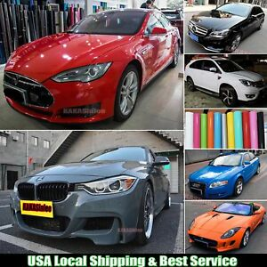 Glossy-Car-Paint-Change-Bright-Flat-Vinyl-Wrap-Film-Sticker-Bubbles-Free-ABUS