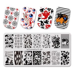 halloween spider pumpkin celebration rectangle manicure nail art
