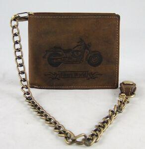 GreenBurry-Biker-Boerse-mit-Kette-42-Rind-Leder-Schein-Tasche-Geldboerse-Bike-1796