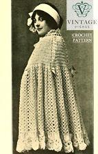 Vintage downton abbey era crochet pattern for a cape cloak-free UK postage