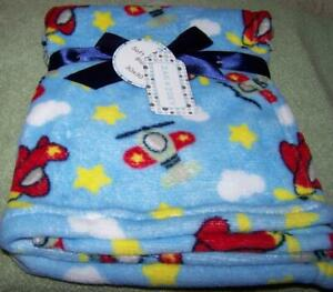 Zak And Zoey Soft Amp Snuggly Airplanes Blue Blanket 30 Quot X