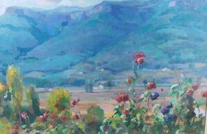 Rare Signed Ramon Barnadas GUILLERIAS Mountain Landscape Art Oil Painting Listed