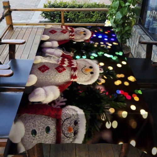 3D Schneemann Puppe C91 Christmas Tischdecke Tischdecke Tuch Geburtstagsfeier Z