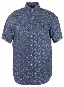 Polo-Ralph-Lauren-Men-039-s-Big-and-Tall-Floral-Short-Sleeves-Shirt-BLU-XLT