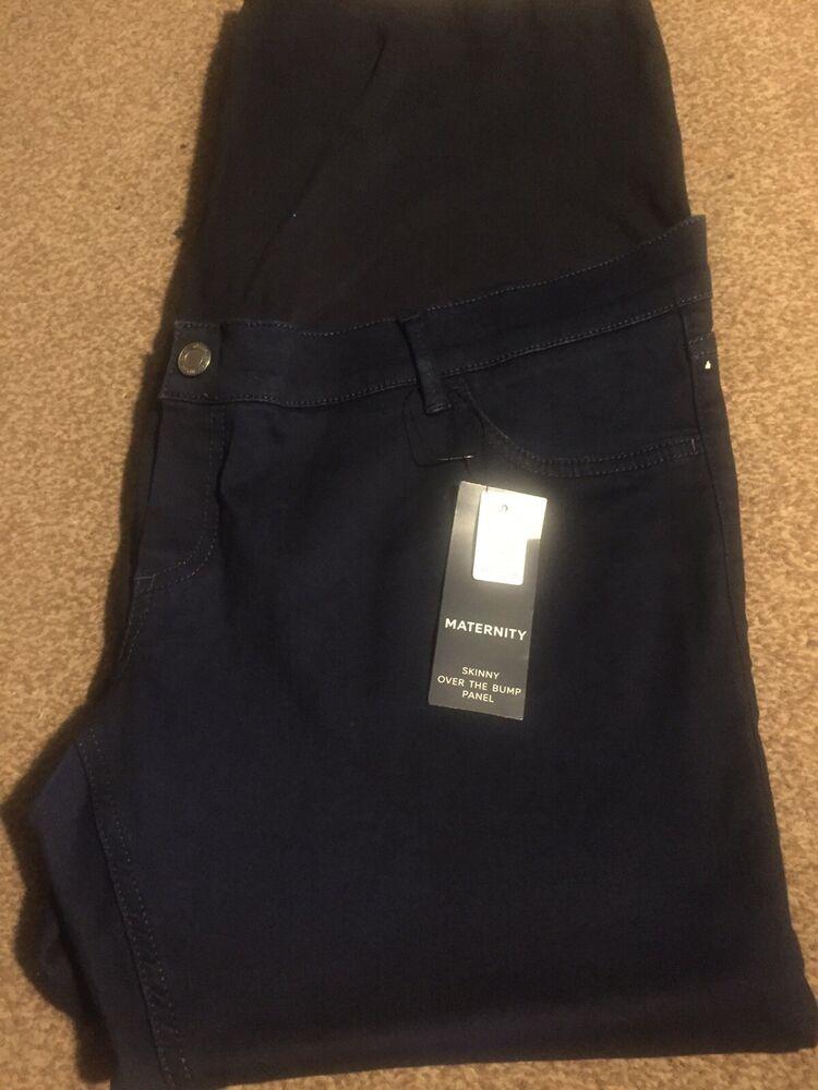 Bnwt M&s Maternity Jeans Taille 18 Skinny Sur La Bosse
