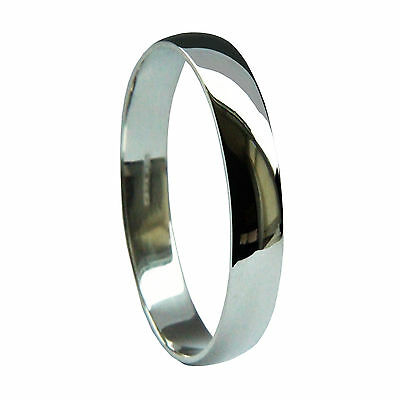 9ct White Gold Wedding Rings D Shaped 375 HM NEW 2mm 3mm 4mm 5mm 6mm Medium Band