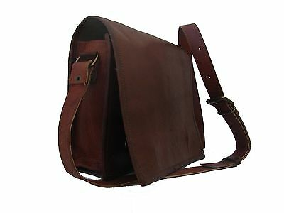 Medium Messenger Bag New Genuine Vintage Leather Satchel Shoulder Laptop Men Bag