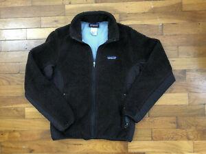 Patagonia Synchilla Brown Fleece Full Zip Jacket women's SMALL shaggy coat 1c315