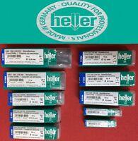 10 X Genuine Heller HSS-R Twist Drill Bits DIN 338 RN Various Sizes