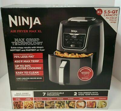 Ninja Af161 Max Xl Air Fryer 5 5 Quart Max Crisp Fry Roast Broil Bake Dehydrate 622356559133 Ebay