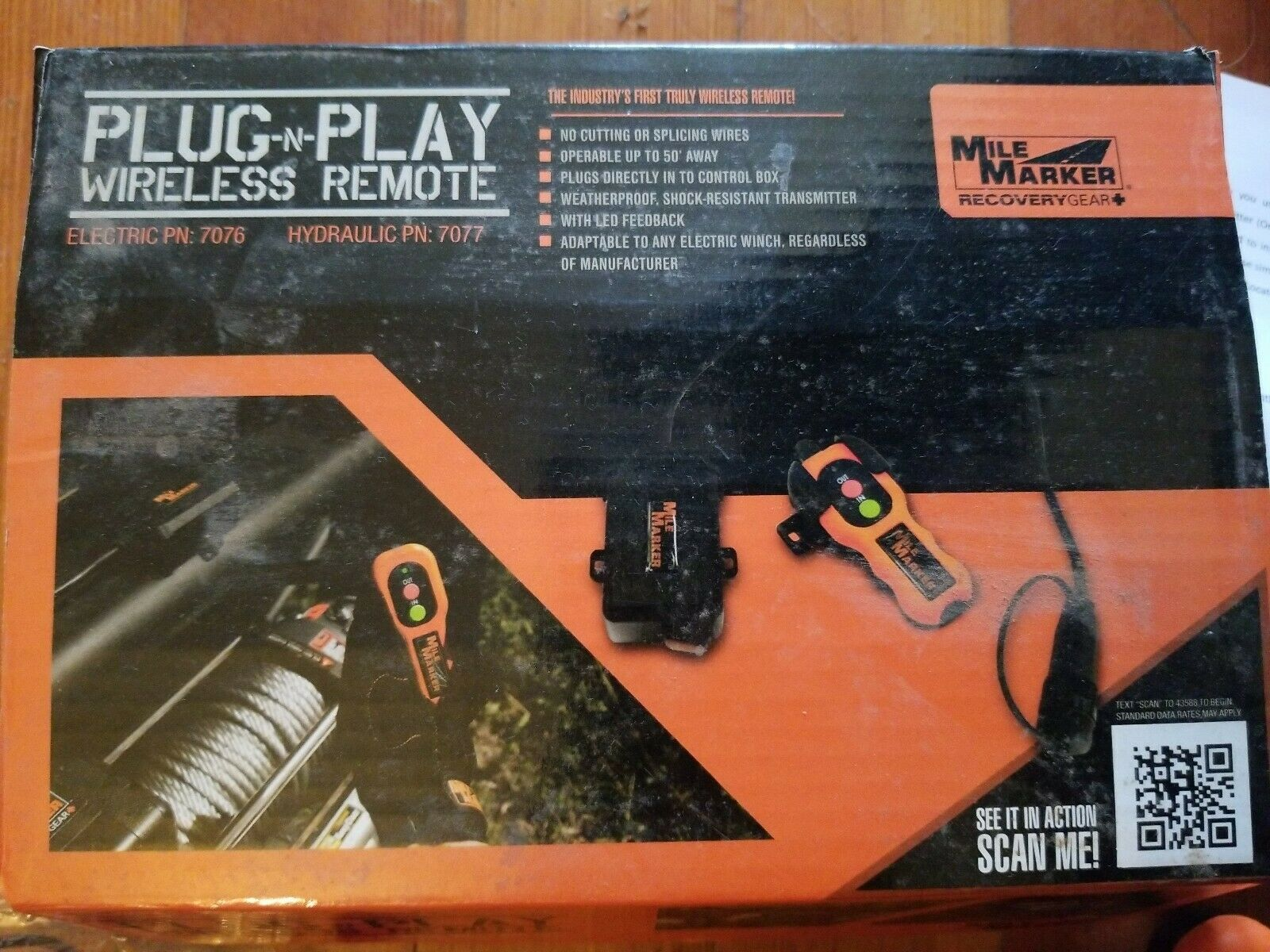 7077 Plug and Play Wireless Remote for Hydraulic Winch Mile Marker