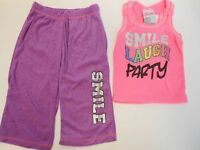 Girls Outfits Girls Sweatsuit & Tank Top Smile Laugh Pj's Sweatpants Tank Tops 4