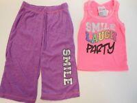 Girls Outfits Girls Sweatsuit & Tank Top Smile Laugh Pj's Sweatpants Tank Tops 4