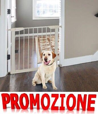 Cancelletto di Sicurezza per Animali Domesticie Bambini ferro 77 cm x 88 cm