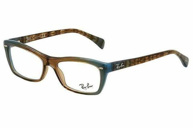 2c45c37e58 New Authentic Ray ban Rectangle Eyeglasses RX5255 Gradient Brown Blue 5490  53