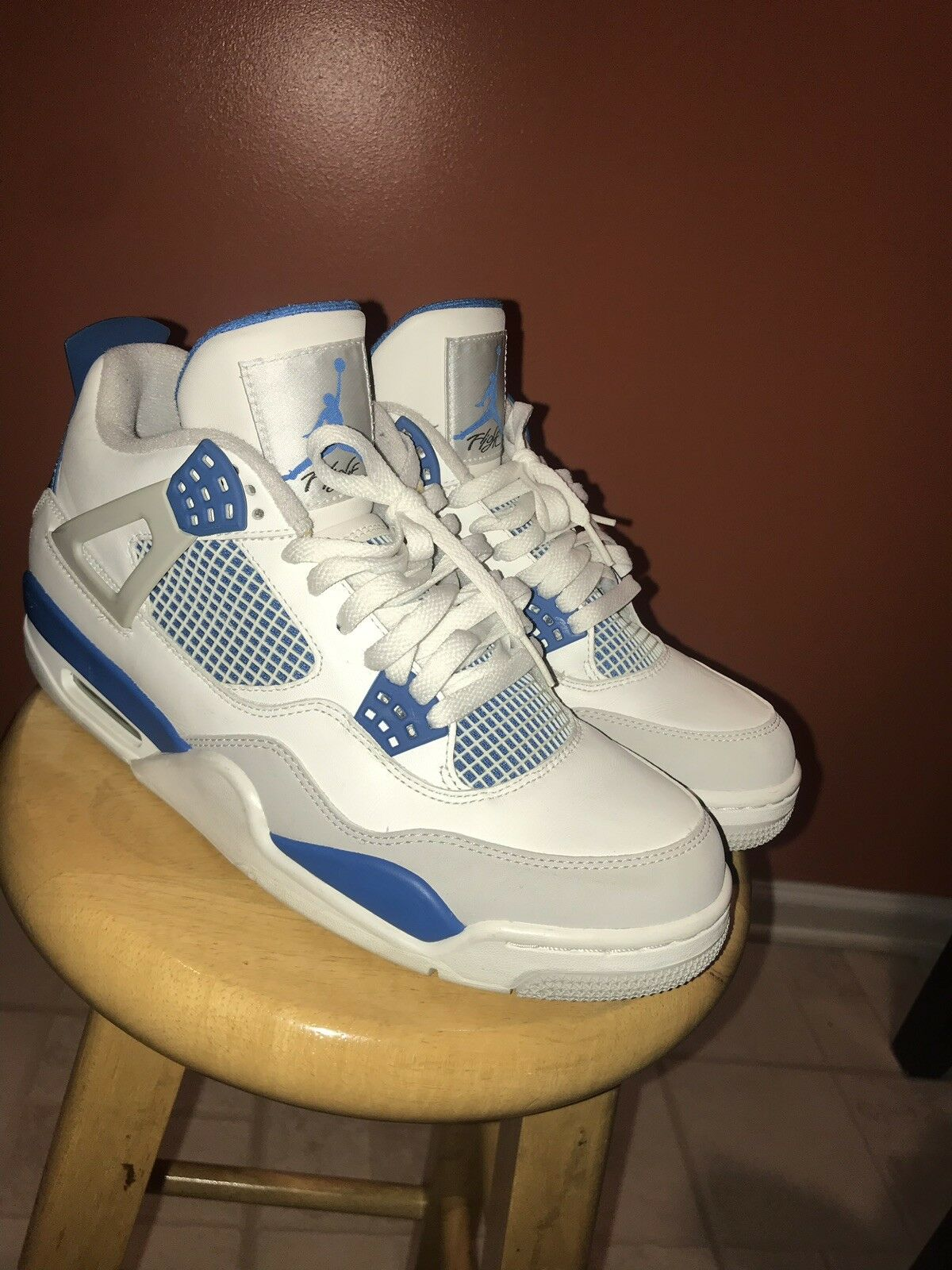 Nike air jordan retro 4 military bluee bluee bluee 6815c6