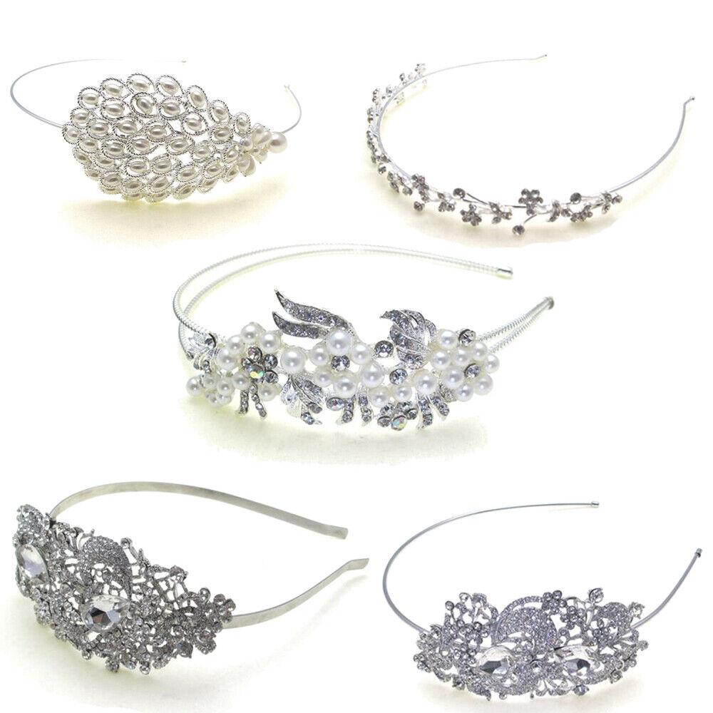 Headband Pearl Vintage Ladies Girls Fashion Bridesmaid Hair Piece Prom Wedding