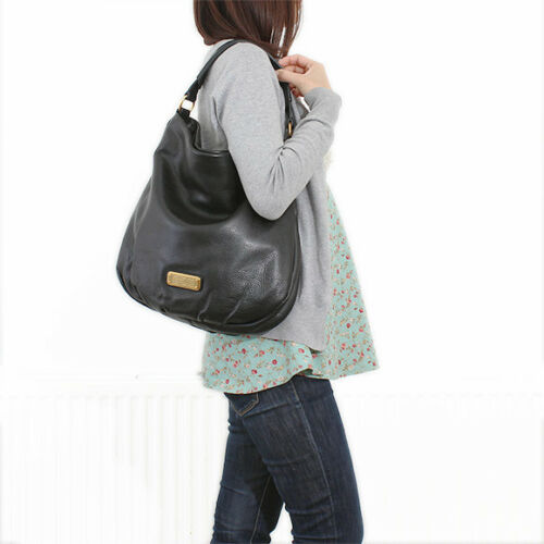 Nwt Authentiek Q Hillier New Schoudertas Marc Leren Jacobs Hobo Zwart By dBxoCe