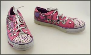 skechers twinkle toes girls lace up