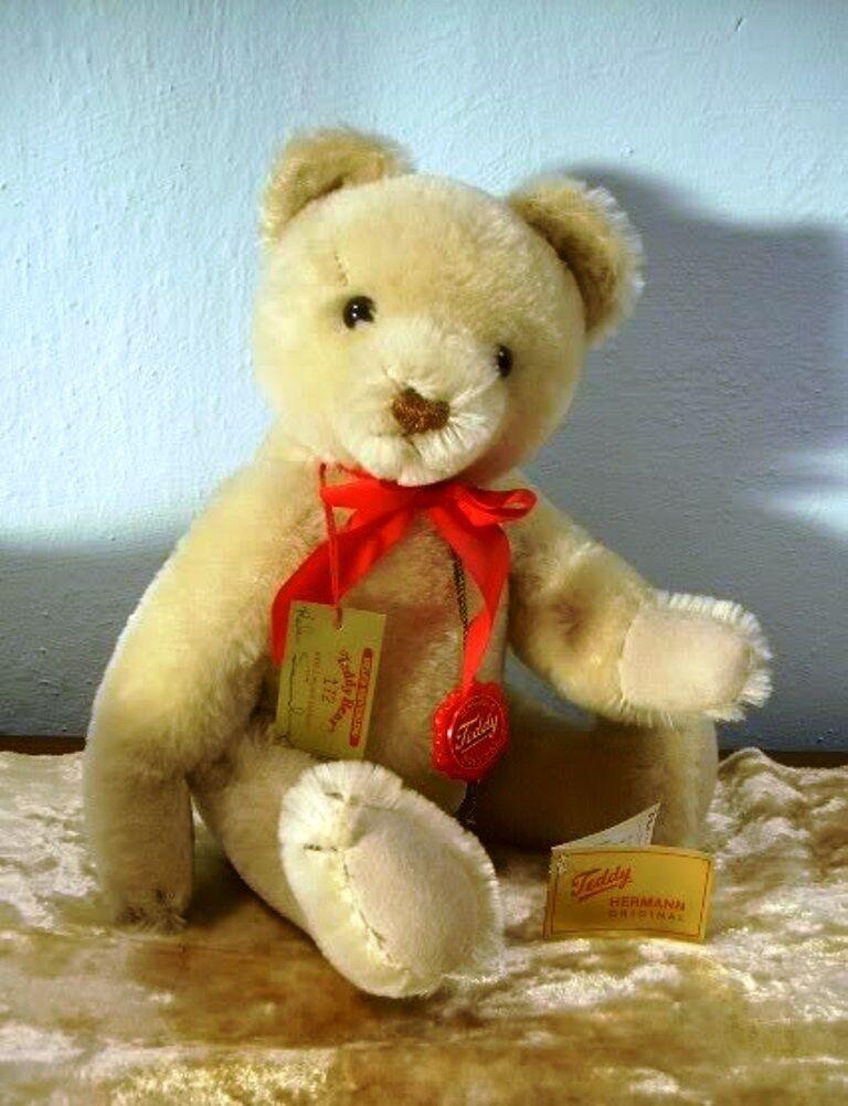 FABULOUS Hermann Original Teddy Bear Mohair SIGNED Helen Sieverling MIB jointed