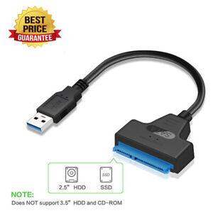 "Cable adaptador USB para disco duro SATA III de 3.0 a 2.5 /""con UASP para SSD//HDD"