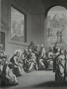 Jesus-Christ-Offers-in-Ses-Disciples-the-Model-Gravure-of-1863