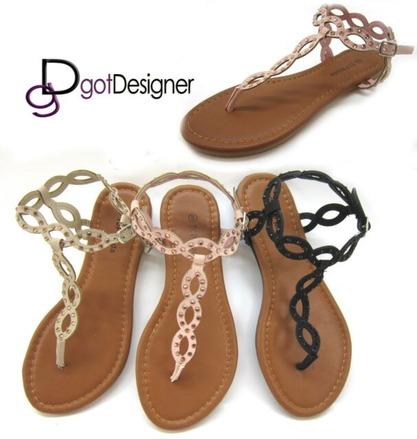 NEW Womens Fashion Shoes Summer Thong Sandals Flip-flops Open Toe Strappy Casual