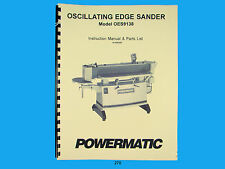 Powermatic Model Oes9138 Oscillating Edge Sander Instruct Amp Parts Manual 270