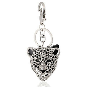 Handbag-Buckle-Charms-Accessories-Black-Leopard-Head-Keyrings-Key-Chains-HK27