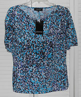 Jones Wear Catalina Island Multi Color Blouse Size Medium