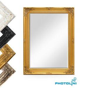 wand spiegel im barock rahmen antik facettenschliff ca 60x80 cm gold silber wei ebay. Black Bedroom Furniture Sets. Home Design Ideas