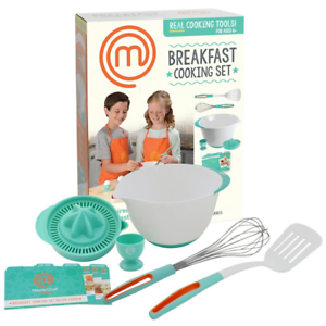 MasterChef Junior Breakfast Cooking Set - 6 Pc Kit Includes Real Cooking Tools