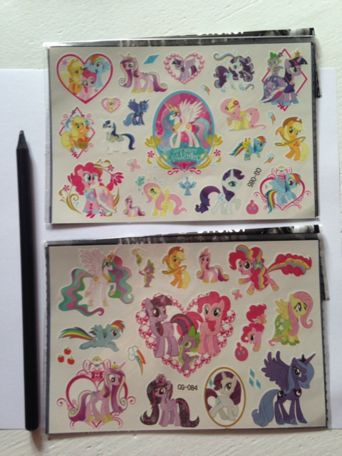 My Little Pony, Kalendergaver, My little pony, Tatoveringer…