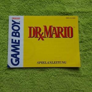 Gameboy-Dr-Mario-Instrucciones-Del-Juego-Manual-Manual-Folleto