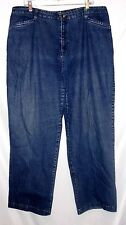 """White Stag Size 18W Stretch Jeans, Elastic Waist On Sides, 30"""" Inseam"""