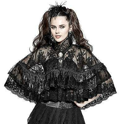 PUNK RAVE PYON Gothic Spitzen-Cape Gothic Lolita Rüschen Umhang Victorian Cloak