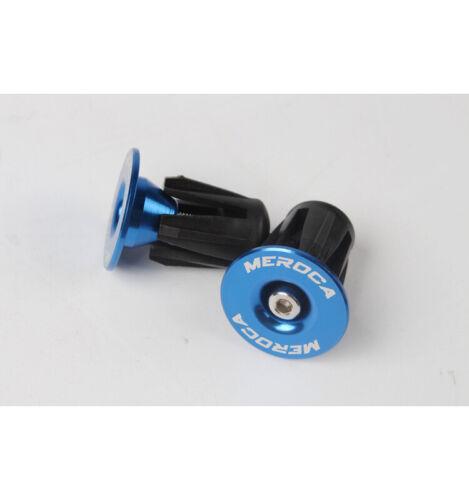 1 Pair MTB//Road Bike Lock-on End Plugs Aluminum Alloy Fit 22~24mm Handlebar