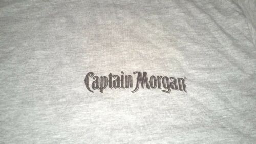 Captain Morgan Rum T-Shirt Gray Size Large FREE SHIPPING BRAND NEW