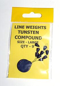 SSG4-tungstene-dos-arrets-ligne-poids-large-pack-de-9-carpe-mer-grossier-peche