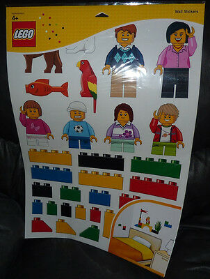 """LEGO Classic wall stickers, 3 sheets 25""""x18"""", 850797, reusable & wall safe"""